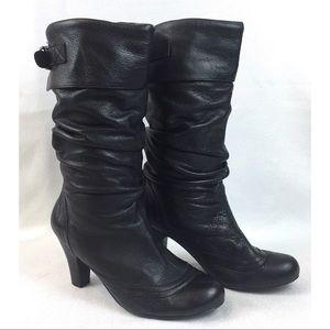 0d14e4fe95e Steve Madden Legion Boots Slouchy Leather Black